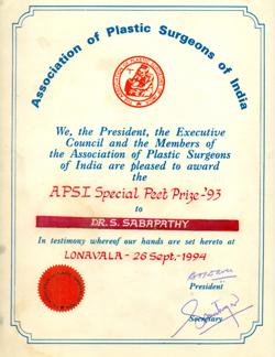 "President""s Special Peet Prize"